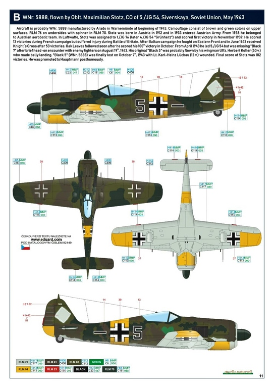 Eduard-82149-Focke-Wulf-Fw190A-5-Profi-Pack-27 Focke Wulf Fw190A-5 Profi-Pack von Eduard #82149