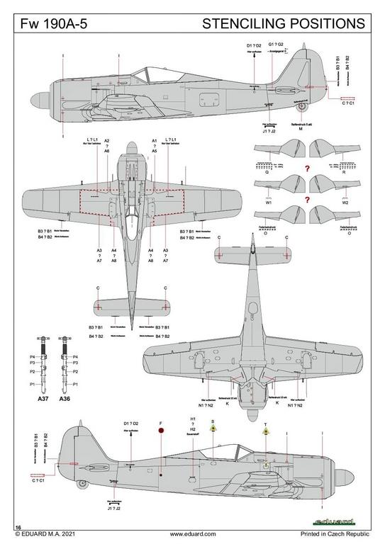 Eduard-82149-Focke-Wulf-Fw190A-5-Profi-Pack-32 Focke Wulf Fw190A-5 Profi-Pack von Eduard #82149