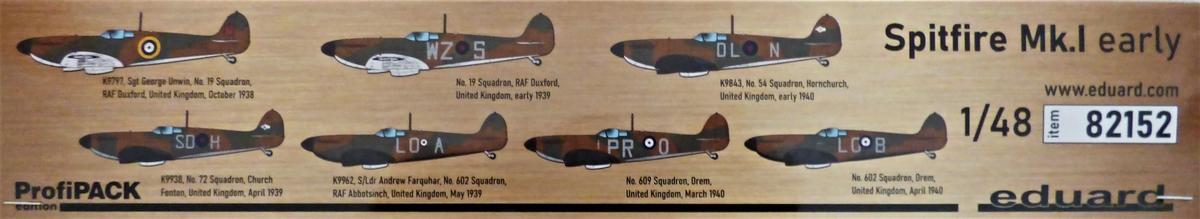 Eduard-82152-Spitfire-Mk.-I-early-ProfiPack-2 Spitfire Mk. I early als Profi-Pack von Eduard in 1:48 #82152
