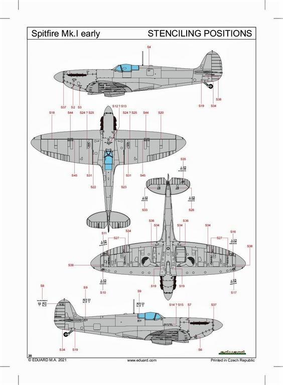 Eduard-82152-Spitfire-Mk.-I-early-ProfiPack-53 Spitfire Mk. I early als Profi-Pack von Eduard in 1:48 #82152