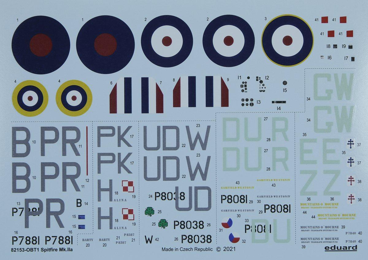 Eduard-82153-Spitfire-MK.IIa-PROFIPACK-28 Spitfire Mk. IIa in 1:48 als ProfiPack von Eduard #82153