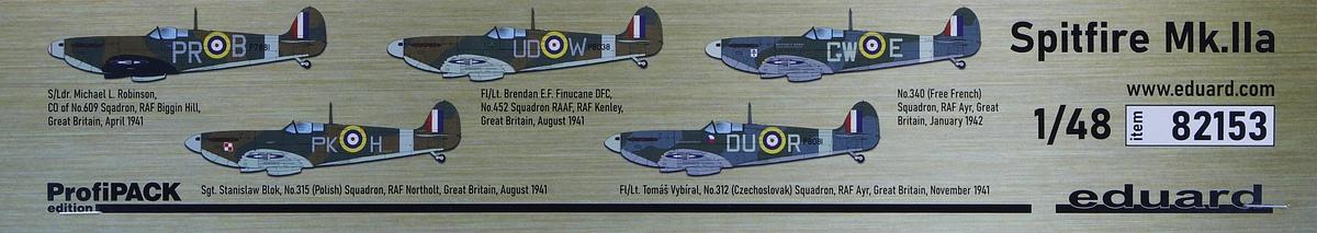 Eduard-82153-Spitfire-MK.IIa-PROFIPACK-33 Spitfire Mk. IIa in 1:48 als ProfiPack von Eduard #82153