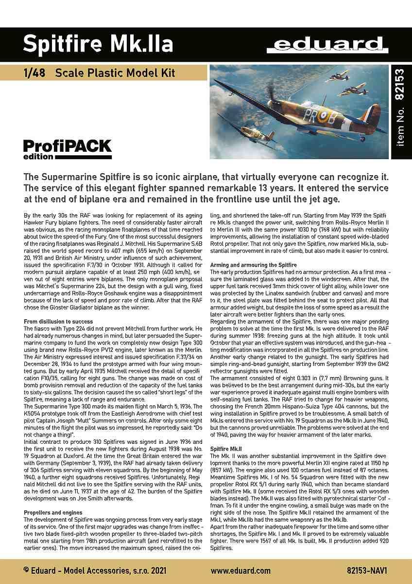 Eduard-82153-Spitfire-MK.IIa-PROFIPACK-6 Spitfire Mk. IIa in 1:48 als ProfiPack von Eduard #82153