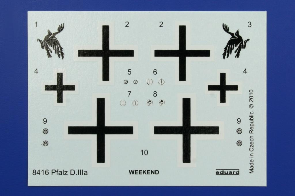 Eduard-8416-Pfalz-D.IIIa-WEEKEND-4 Pfalz D.IIIa in 1:48 von Eduard als WEEKEND-Edition #8414