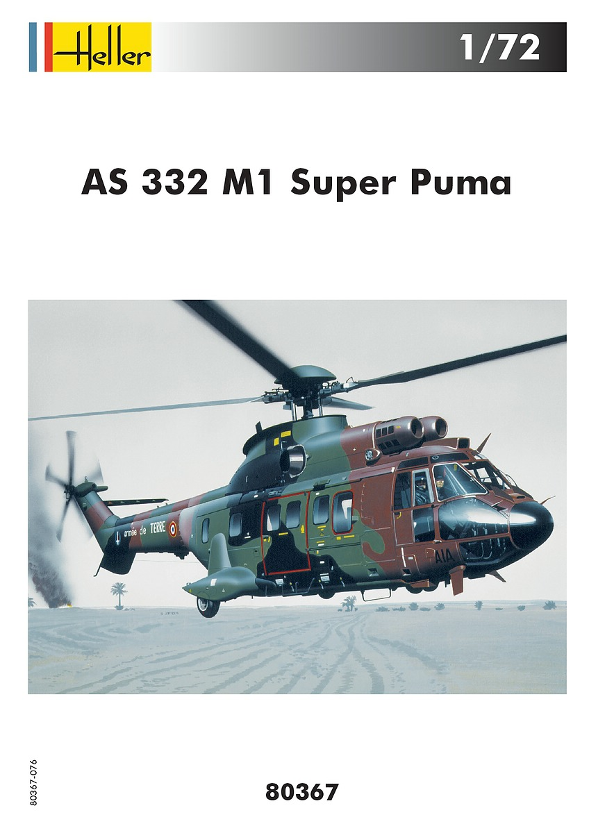 Heller-80367-AS-332-M1-Super-Puma-11 Aérospatiale AS 332 Super Puma in 1:72 von Heller # 80367
