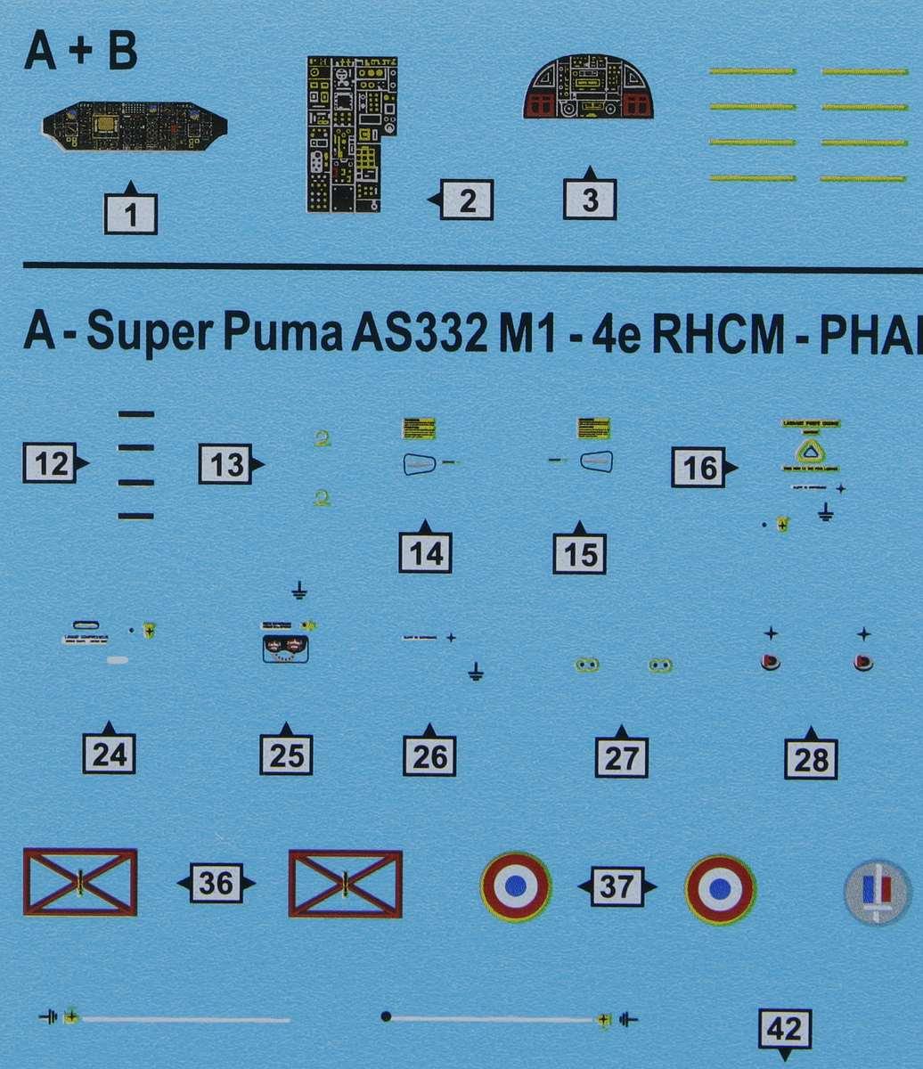 Heller-80367-AS-332-M1-Super-Puma-25 Aérospatiale AS 332 Super Puma in 1:72 von Heller # 80367