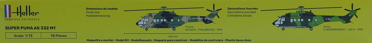Heller-80367-AS-332-M1-Super-Puma-3 Aérospatiale AS 332 Super Puma in 1:72 von Heller # 80367