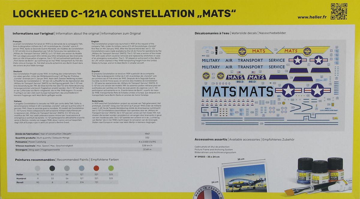 Heller-80382-Lockheed-C-121A-Constellation-Berlin-2 Lockheed C-121A Constellation in 1:72 von Heller #80382