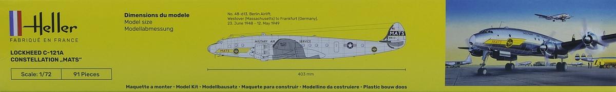 Heller-80382-Lockheed-C-121A-Constellation-Berlin-3 Lockheed C-121A Constellation in 1:72 von Heller #80382