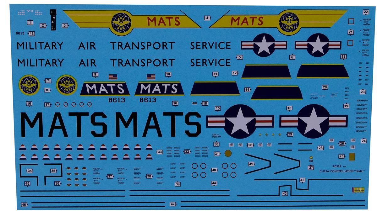 Heller-80382-Lockheed-C-121A-Constellation-Berlin Lockheed C-121A Constellation in 1:72 von Heller #80382