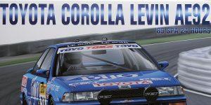 Toyota Corolla Levin 24h Spa 1989 in 1:24 von NuNu/Platz