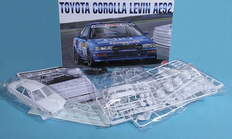NuNu-Platz-Toyota-Corolla-Levin-AE92-Spa-89-17 Toyota Corolla Levin 24h Spa 1989 in 1:24 von NuNu/Platz