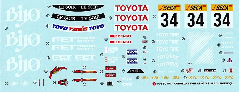 NuNu-Platz-Toyota-Corolla-Levin-AE92-Spa-89-18 Toyota Corolla Levin 24h Spa 1989 in 1:24 von NuNu/Platz