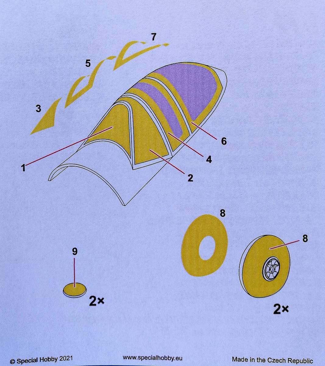 Special-Hobby-M-32003-Westland-Whirlwind-Masken-2 Masken für die Wesrland Whirlwind von Special Hobby # M 32003