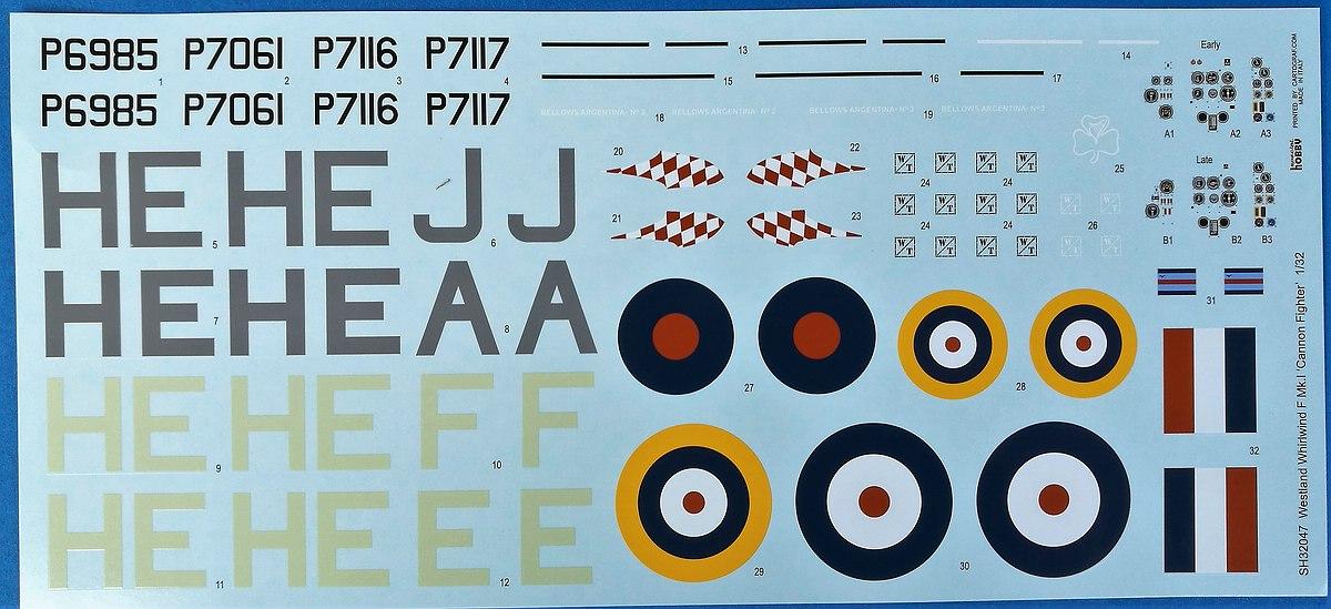 Special-Hobby-SH-32047-Westland-Whirlwind-F.Mk_.-I-54 Westland Whirlwind F.Mk.I in 1:32 von Special Hobby #32047