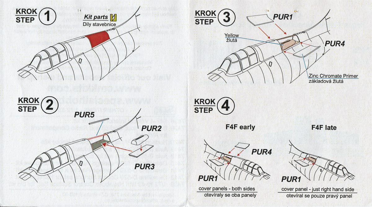 CMK-7435-und-7445-Dinghys-7 Zurüstsets von CMK mit Dinghy's für die B-25 Mitchell und die F4F-4 Wildcat von Airfix in 1:72 #7445 und #7435