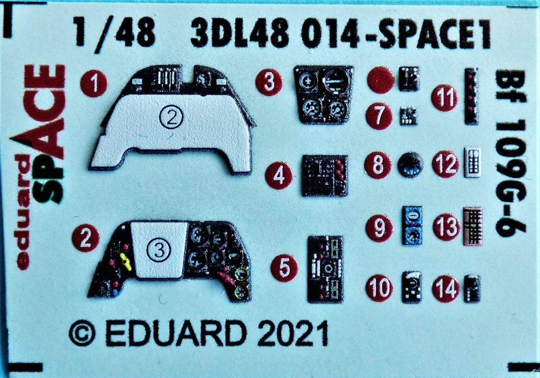 EDuard-3DL48014-SPACE-fuer-Bf-109-G-6-3 SPACE-Set für Bf 109G-6 von Eduard in 1:48 # 3DL48014