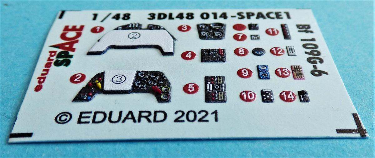 EDuard-3DL48014-SPACE-fuer-Bf-109-G-6-4 SPACE-Set für Bf 109G-6 von Eduard in 1:48 # 3DL48014