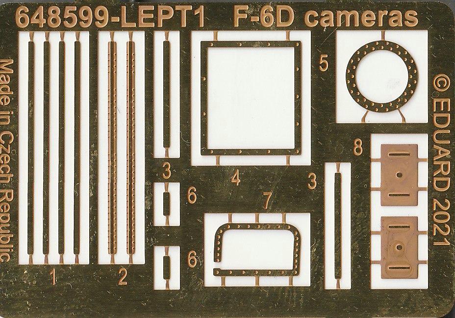 Eduard-648599-Mustang-F-6D-14 F-6D cameras in 1:48 von Eduard # 648599