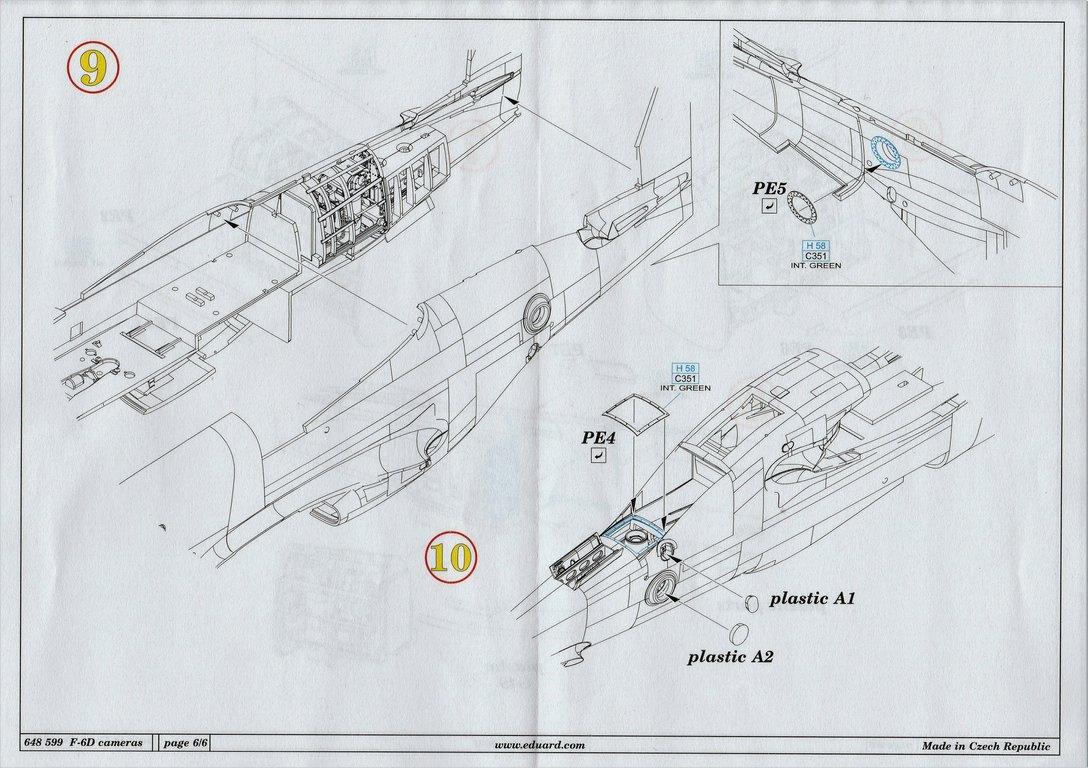 Eduard-648599-Mustang-F-6D-20 F-6D cameras in 1:48 von Eduard # 648599