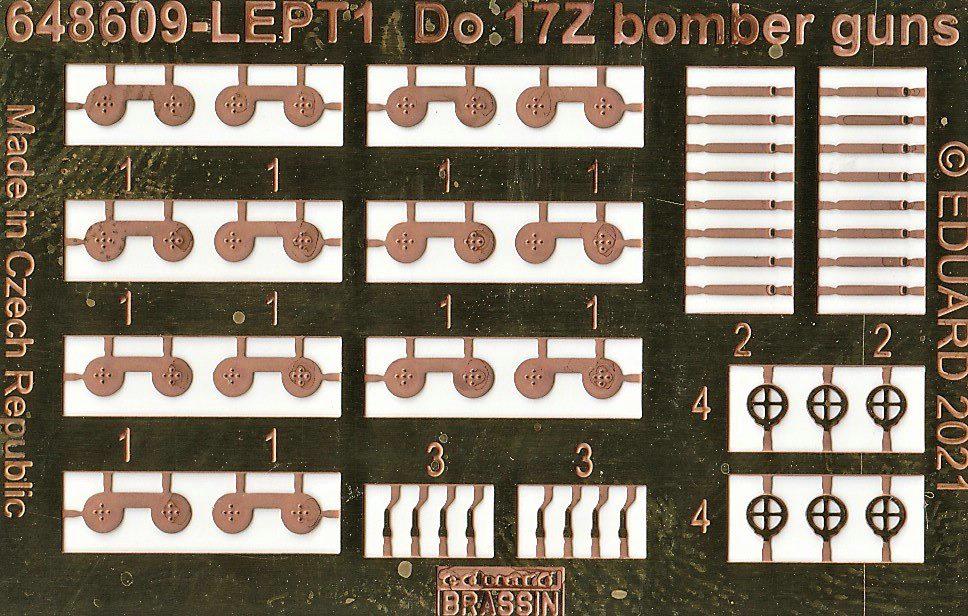 Eduard-648608-648609-644082-fuer-ICM-Do-17Z-20 Detaillierungsset von Eduard für die Dornier Do 17Z in 1:48 #648608, #648609, #644082