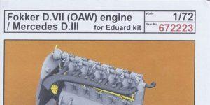 Motoren für die Fokker D.VII in 1:72 von Eduard # 672223 und 224