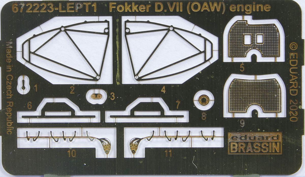 Eduard-672223-Fokker-D.VII-Mercedes-Motor-8 Motoren für die Fokker D.VII in 1:72 von Eduard # 672223 und 224