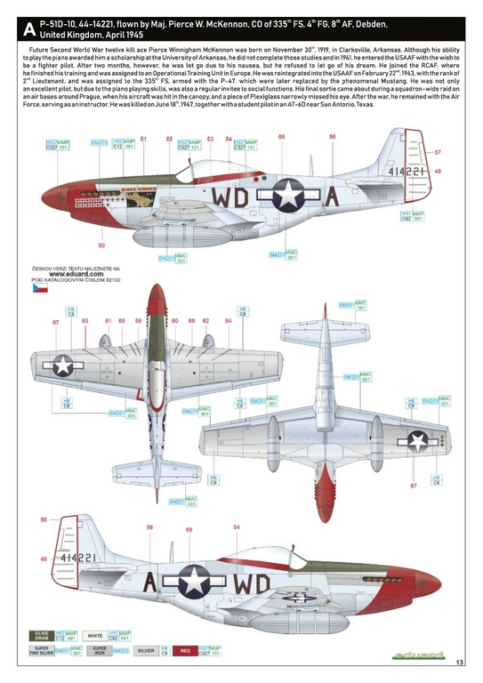 Eduard-82102-P-51D-ProfiPack-31 P-51D Mustang im neuen Profi-Pack von Eduard in 1:48 #82102