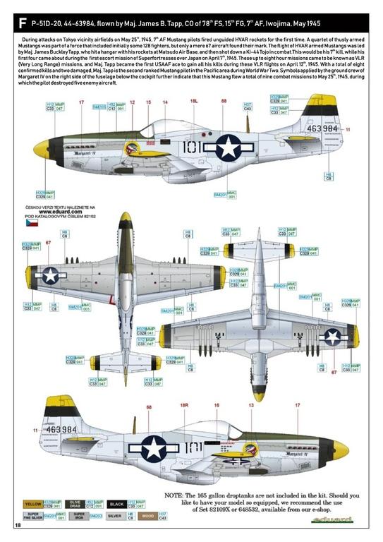 Eduard-82102-P-51D-ProfiPack-36 P-51D Mustang im neuen Profi-Pack von Eduard in 1:48 #82102