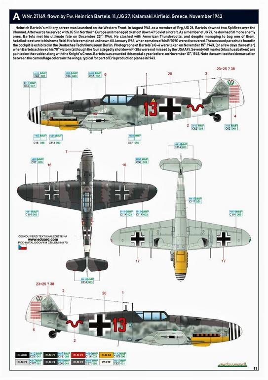 Eduard-84173-Bf-109-G-6-WEEKEND-16 Bf 109G-6 in neuer Weekend-Edition von Eduard in 1:48 #84173