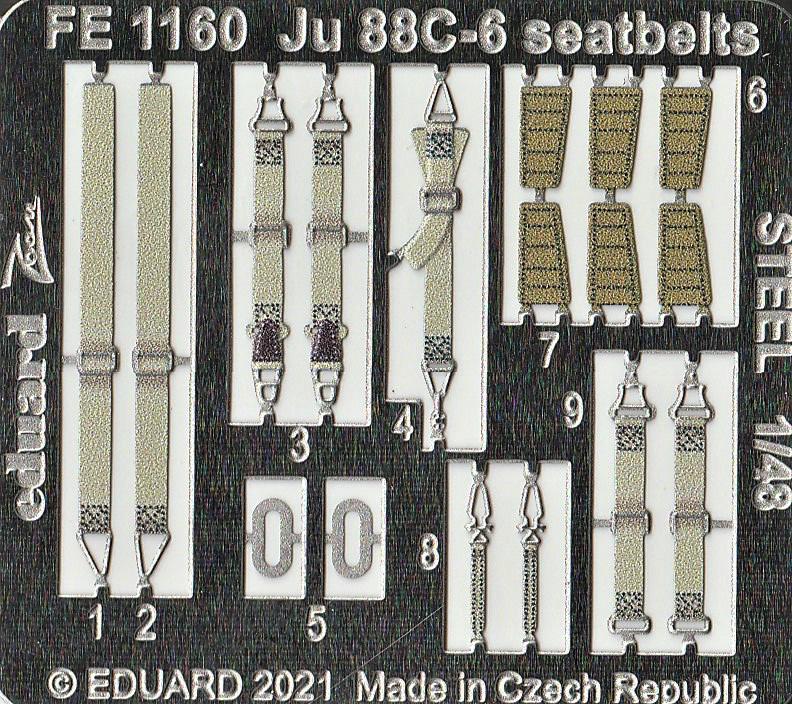 Eduard-FE-1159-1169-Ju-88-von-ICM-10 Ätzteile und Masken von Eduard für die Ju88C-6 von ICM in 1:48 #FE1159, FE1160, EX759 und EX760