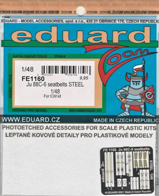 Eduard-FE-1159-1169-Ju-88-von-ICM-9 Ätzteile und Masken von Eduard für die Ju88C-6 von ICM in 1:48 #FE1159, FE1160, EX759 und EX760