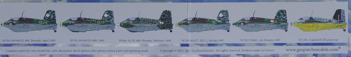 GasPatch-48236-Me163-Komet-2 Messerschmitt Me 163B Komet in 1:48 von GasPatch