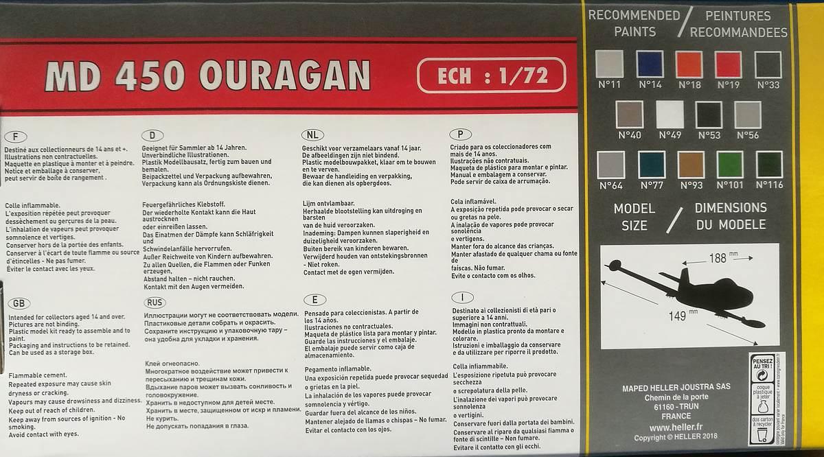 Heller-80201-Dassault-MD-450-Ouragan-30 MD 450 Ouragan in 1:72 von Heller #56201