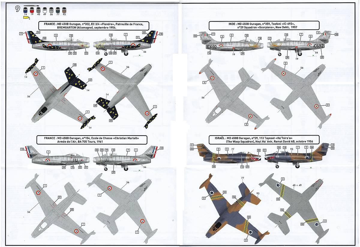Heller-80201-Dassault-MD-450-Ouragan-33 MD 450 Ouragan in 1:72 von Heller #56201