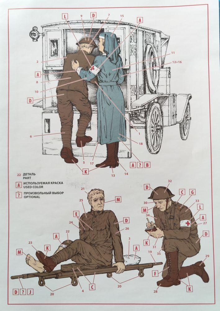 IM_T1917_Ambulance_w_Figs021 Model T 1917 Ambulance with US Medical Personal von ICM in 1:35