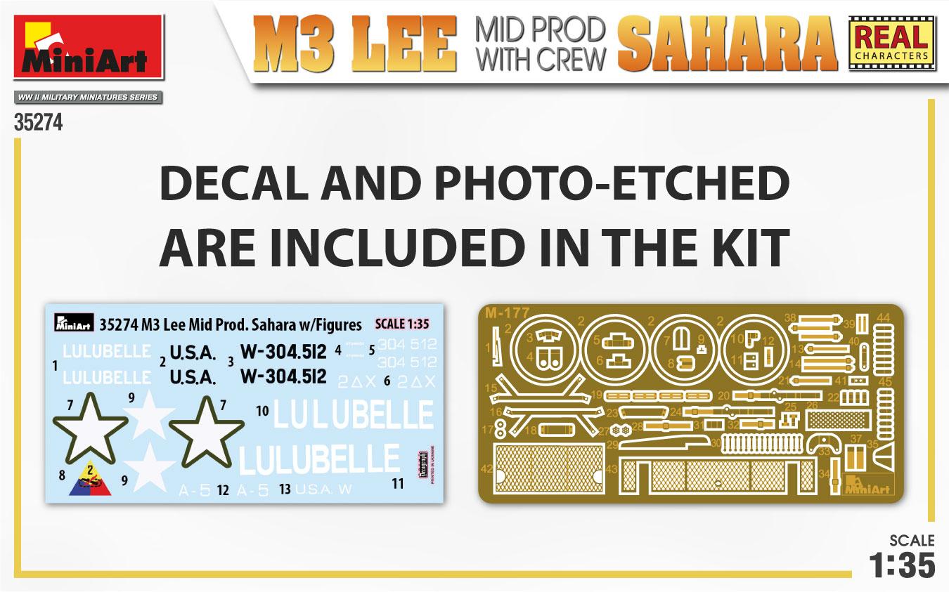 MiniArt-35274-M3-Lee-SAHARA-2 Demnächst bei eurem Händler: M3 Lee SAHARA mit Figuren von MiniArt