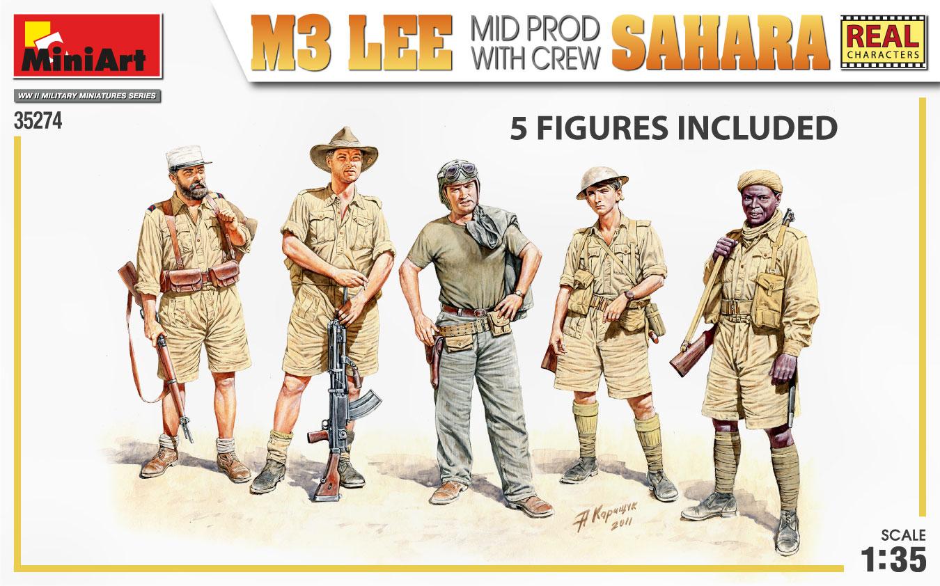 MiniArt-35274-M3-Lee-SAHARA-3 Demnächst bei eurem Händler: M3 Lee SAHARA mit Figuren von MiniArt