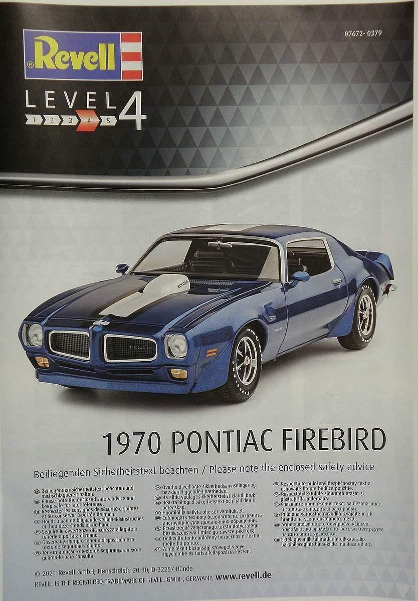REvell-07672-1970-Pontiac-Firebird-10 1970 Pontiac Firebird in 1:24 von Revell #07672