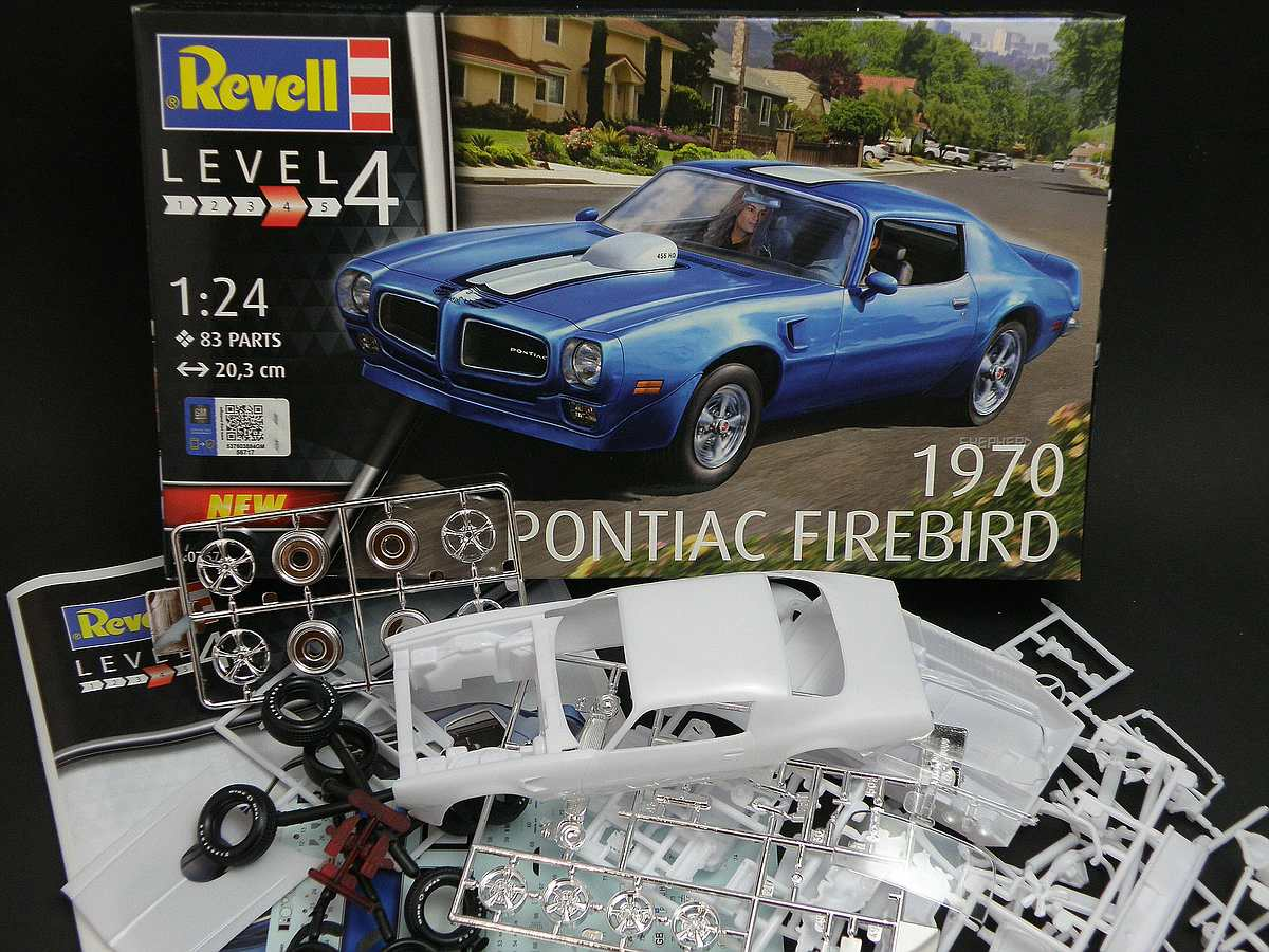 REvell-07672-1970-Pontiac-Firebird-2 1970 Pontiac Firebird in 1:24 von Revell #07672