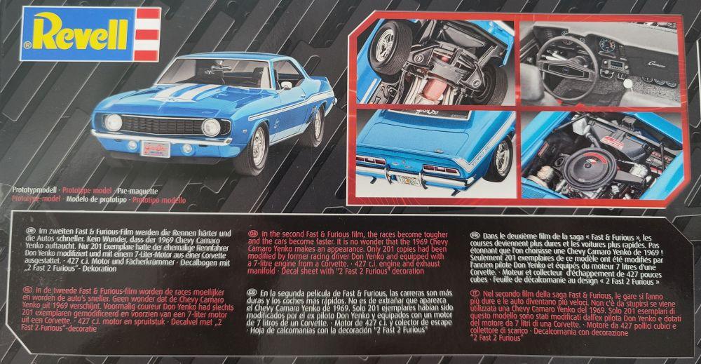 "Revell_69_camaro003 Revell 1969 Camaro ""Fast & Furious""in 1:24"