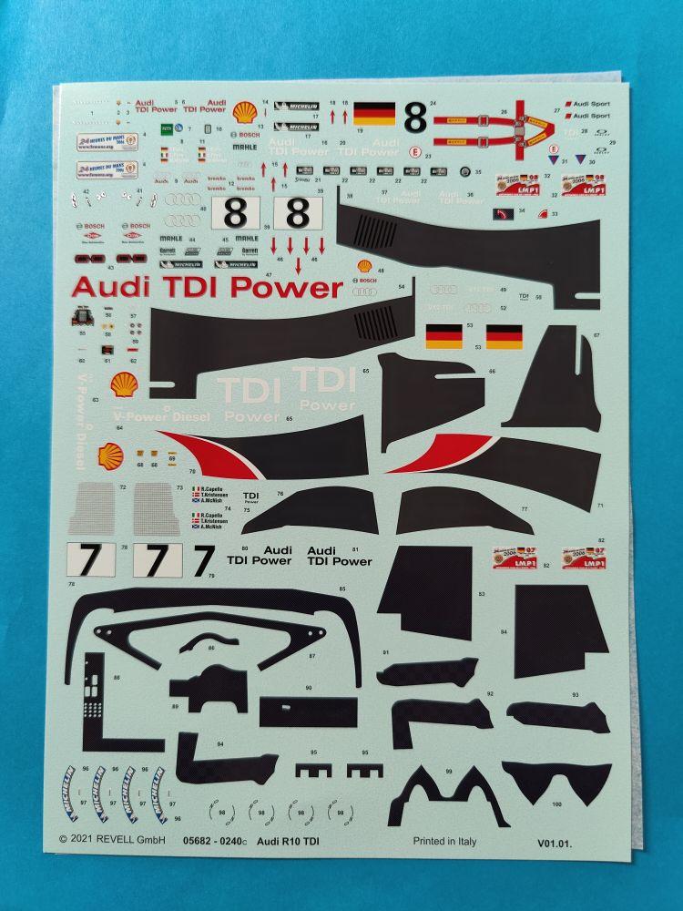Revell_Audi_R10_giftset001 Audi R10 TDI Gift Set in 1:24 von Revell