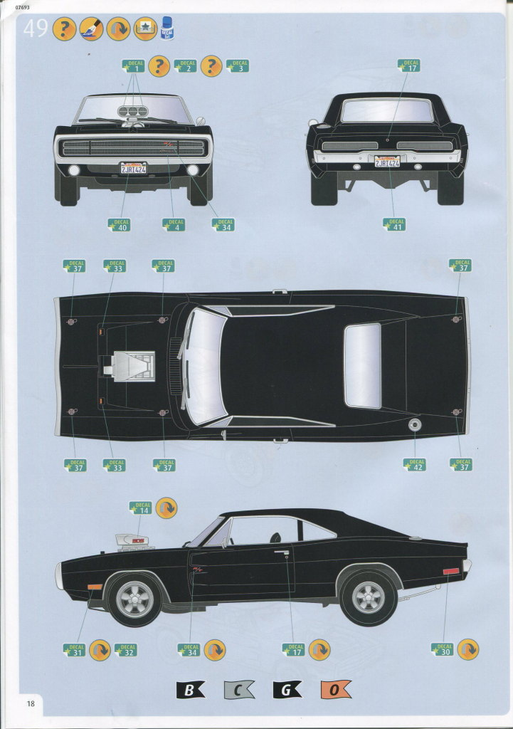 Review_Revell_Charger70_FF_63 '70 Dodge Charger (Fast & Furious) - Revell 1/24 --- #07693