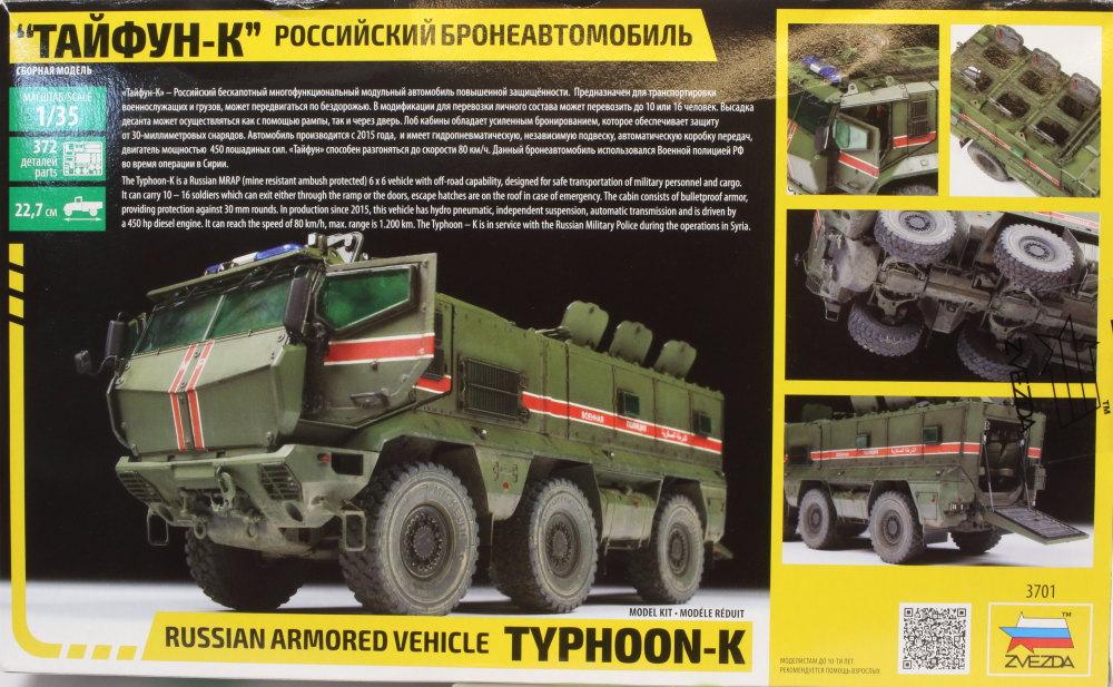 Review_Zvezda_TyphoonK_64 Typhoon K (Russian MRAP) - Zvezda 1/35