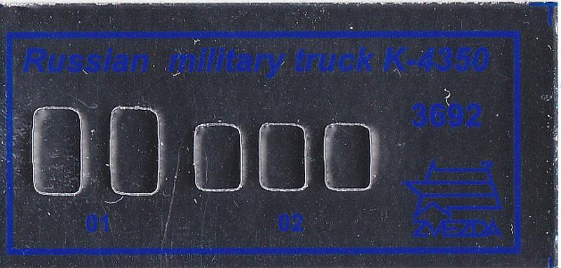 Zvezda-3692-Kamaz-K-4350-8 Kamaz K 4350 in 1:35 von Zvezda #3692