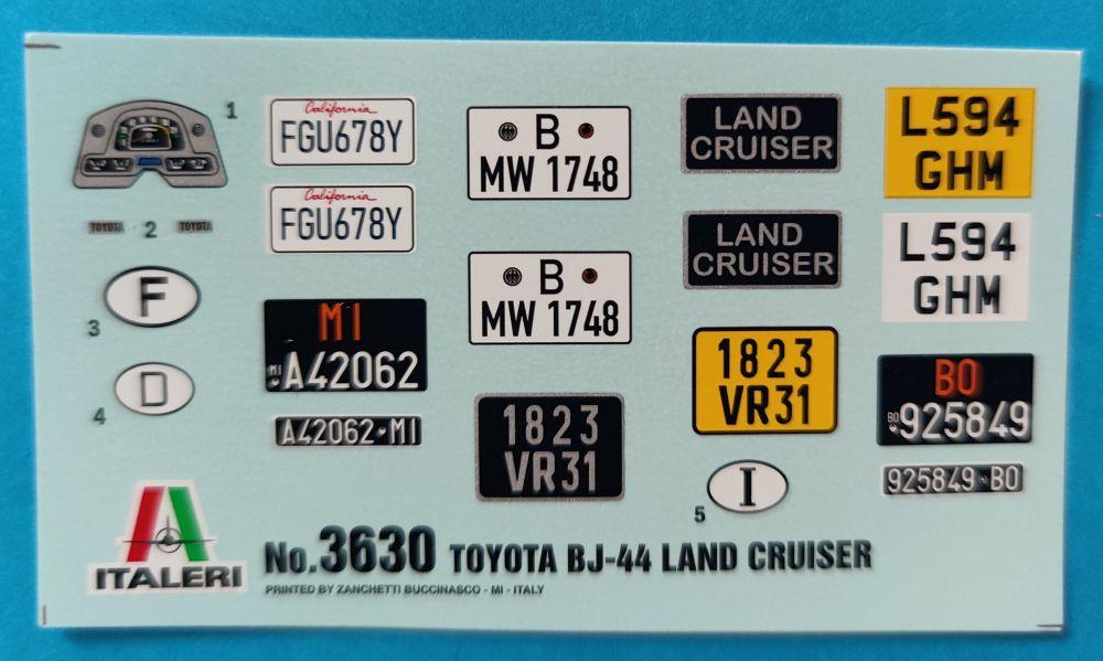 italeri_Toyota_LC013 Italeri Toyota BJ44 Land Cruiser in 1:24