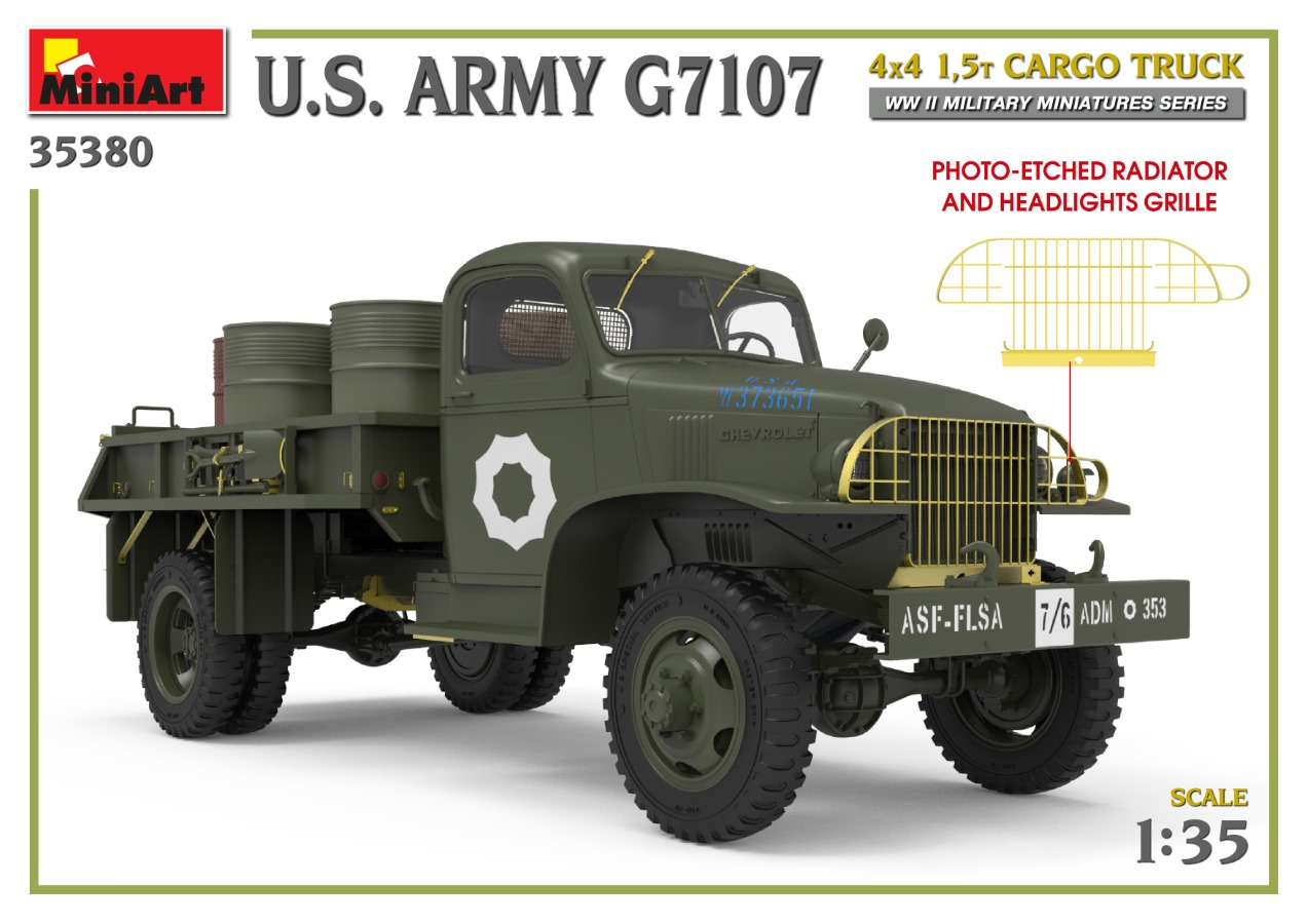 35380_promo-3 Ankündigung: U.S. ARMY G7107 4X4 1,5t CARGO TRUCK Miniart (#35380)