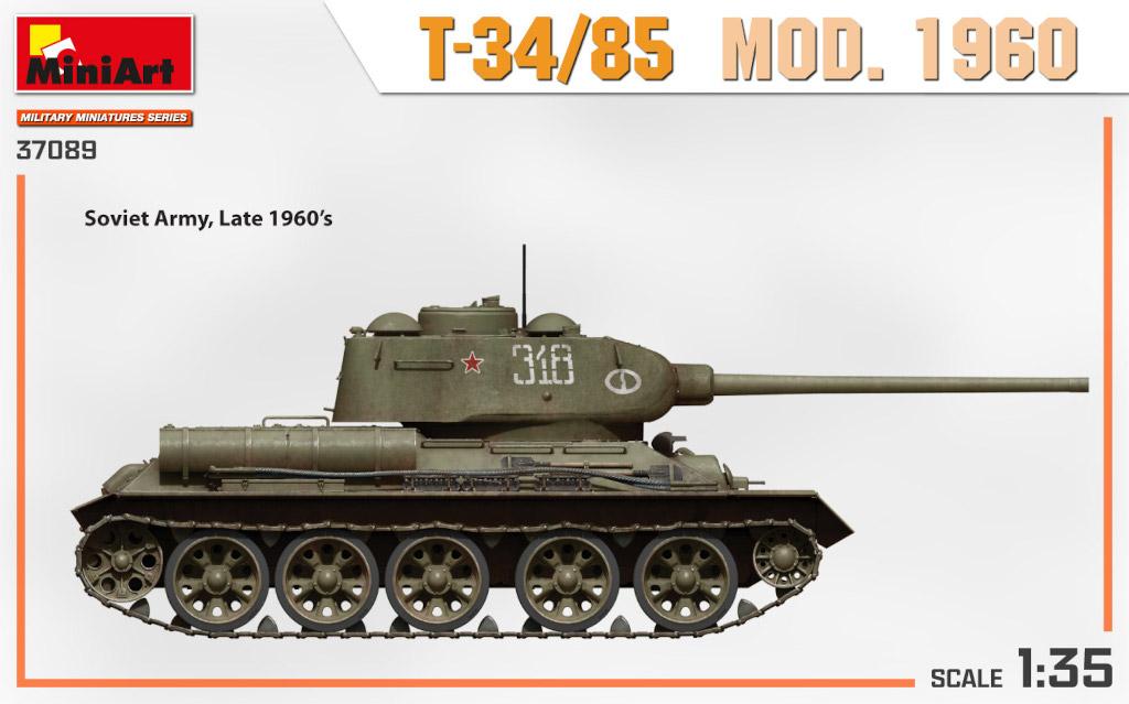 37089_side-views1 Ankündigung: T-34/85 MOD. 1960 1:35 Miniart (#37089)