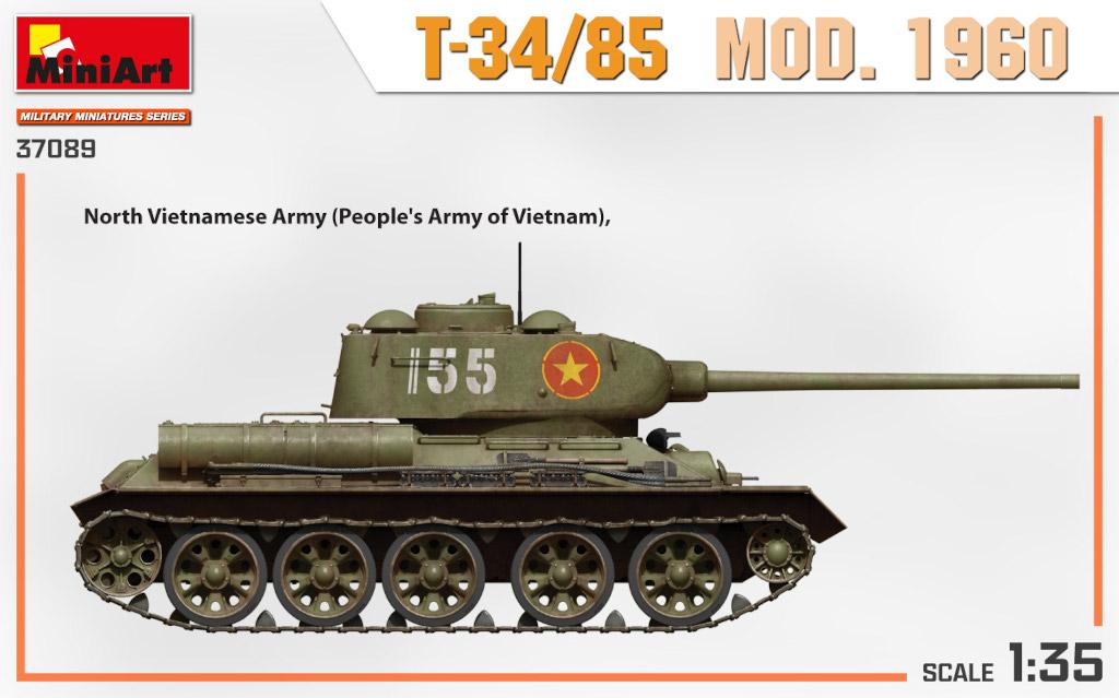 37089_side-views2 Ankündigung: T-34/85 MOD. 1960 1:35 Miniart (#37089)