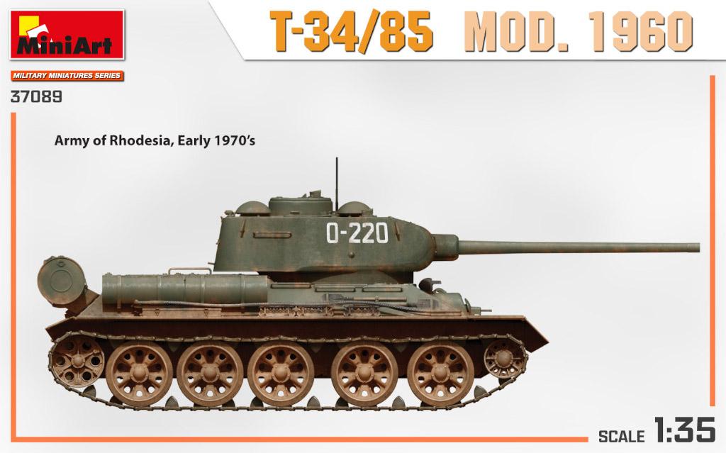 37089_side-views3 Ankündigung: T-34/85 MOD. 1960 1:35 Miniart (#37089)